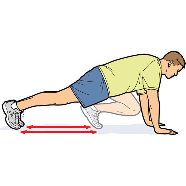 Mountain Climbers can feel like a punishment, but they truly are one of the best overall toning and fat burning moves out there that don't require a bit of equipment.