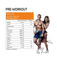 Pre Workout Healthcare Supplement Powder Tangy Orange Flavoured 240 gm for Bulk Purchase