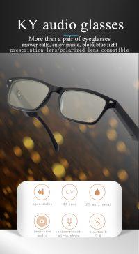 Fashion smart audio glasses eyewear with headphone
