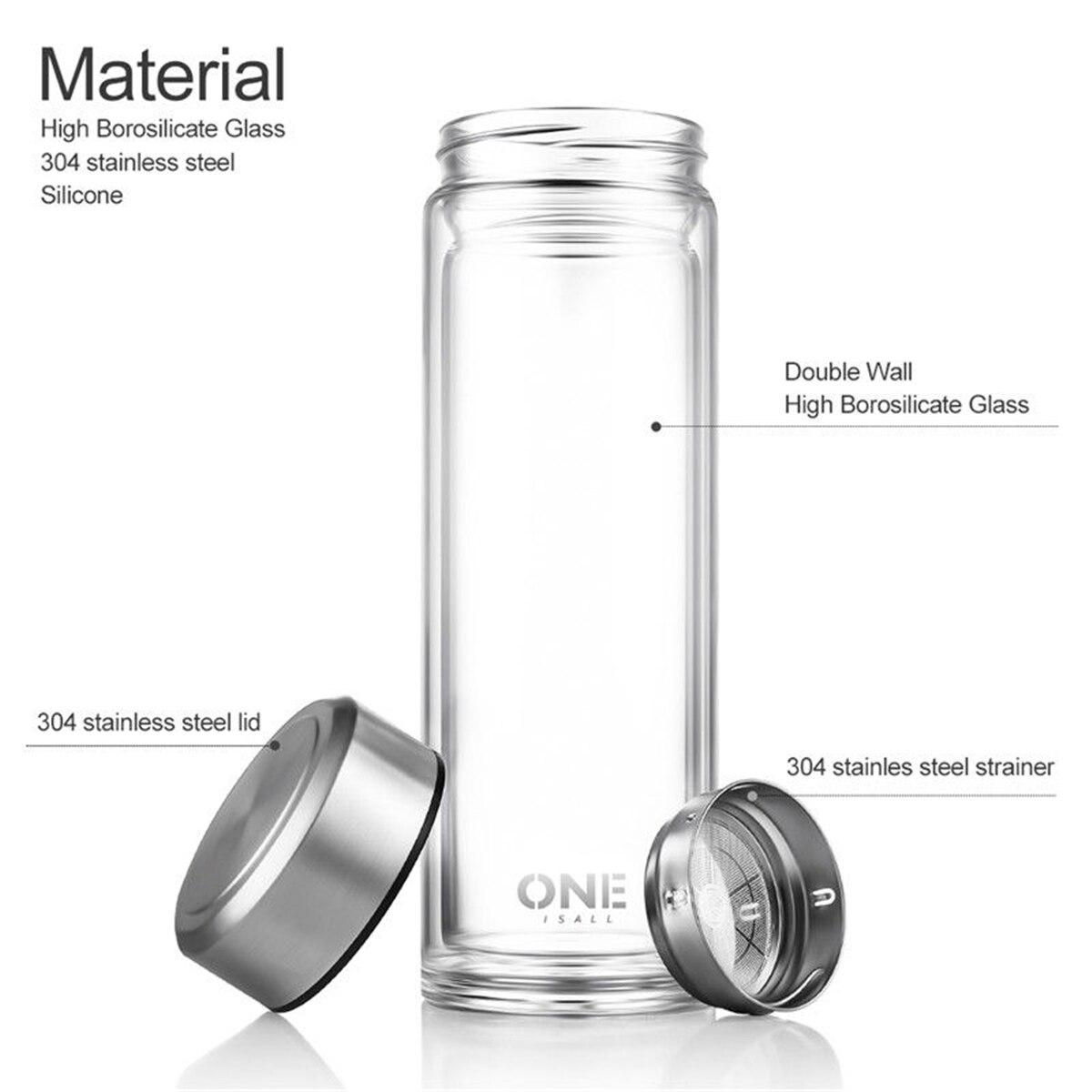 Eco-Fiendly Glass Sport Water Bottle